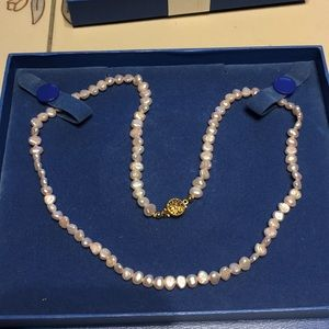"""20"""" pale pink pearl necklace"""
